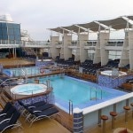 The outdoor pool on the Celebrity Solstice