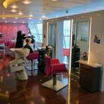 The salon on the Celebrity Solstice