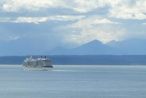 The Celebrity Solstice at sea