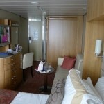 A stateroom aboard the Celebrity Solstice