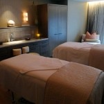 Couples spa treatment room at Loews Regency San Francisco