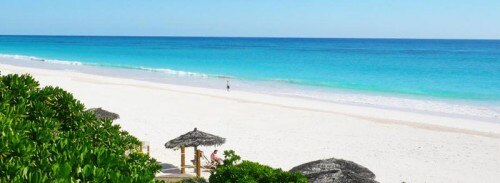 A beach on Eleuthera island in The Bahamas