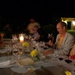 Private vintner dinner at the house of Dale and Marla Bleecher of Jericho Canyon Vineyard