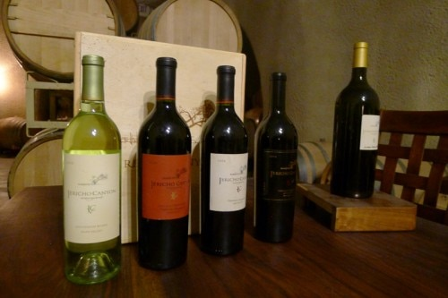 A collection of Jericho Canyon wines