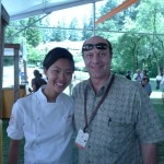 Chef Kristen Kish of Menton with Alain Gayot