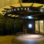 The entrance of Loews Regency San Francisco at night