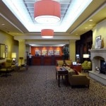 The lobby of Red Lion Hotel on Fifth Avenue in Seattle