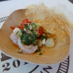Shrimp crudo prepared by Stephanie Izard, Top Chef season 4 winner