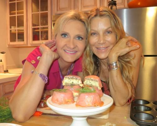 Smoked salmon egg salad cupcake