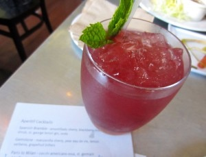 Spanish Bramble cocktail at Range