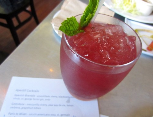 Spanish Bramble cocktail at Range Restaurant