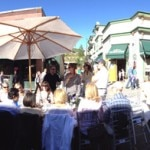 View of guests enjoying their meal at Savor the Summit in Park City, Utah