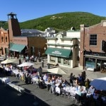 Overhead view of diners at Savor the Summit in Park City, Utah