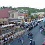 Panoramic view of Savor the Summit festivities at Park City, Utah