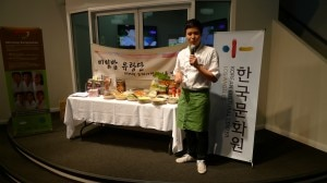 Demonstration of Korean dishes