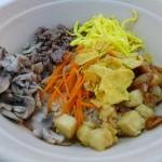 This version of the signature Korean dish bibimbap was made with corn flakes
