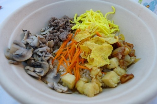 Bibimbap, a signature Korean dish