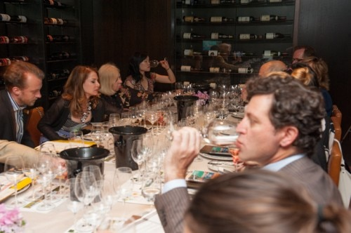 Guests enjoying the wine and food pairings