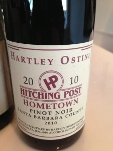 hitching post pinot noir 225x300 Hartley Ostini Hitching Post 2010 Hometown Pinot Noir   Wine of the Week Review