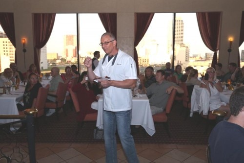 British celebrity chef Robert Irvine speaks to guests at Bally's Atlantic City