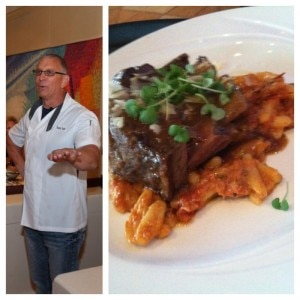 Braised short ribs over cavatelli at Robert Irvine's event inside Bally's Atlantic City