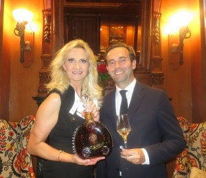 Cognac Louis XIII Global Marketing Director Augustin Depardon with Sophie Gayot