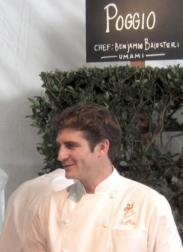 Poggio's executive chef Ben Balesteri