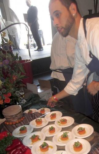 Tomato smorfatino from Perbacco Ristorante + Bar