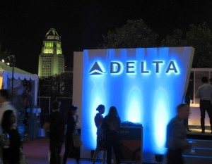 Delta Airlines, a major sponsor of the event