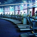 The fitness center inside the MS Nieuw Amsterdam