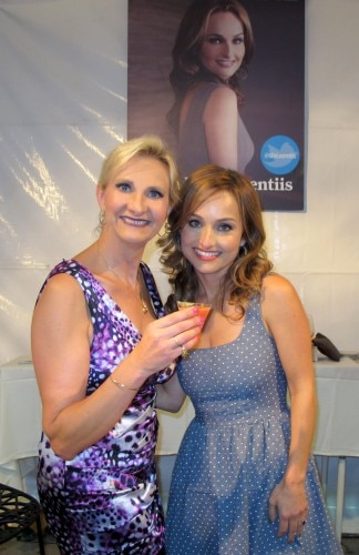 Sophie Gayot with chef Giada De Laurentiis