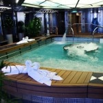 The hydropool inside the MS Nieuw Amsterdam's greenhouse