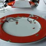 A plate once used at the famous Le Cirque restaurant in New York City