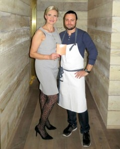 Chef David  Myers with Sophie Gayot