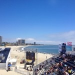 The view from the VIP section at the World Series of Beach Volleyball
