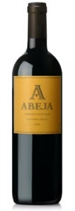 abeja cabernet sauvignon 107x300 Abeja 2010 Cabernet Sauvignon   Wine of the Week Review