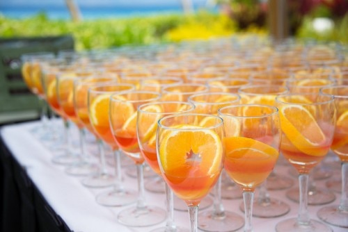 Fruity beverage at the Ka'anapali Fresh celebration