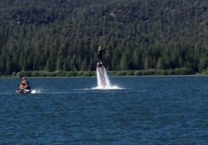 aqua launch airborne1 300x209 Jeff Hoyt gets airborne at Big Bear Lake, CA