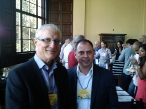 Bill Blosser, founder of Sokol Blosser Winery, and Lee Medina, Regional Brand Manager