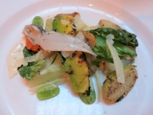 Middle Eastern cucumber, gem, avocado, boquerones (Michelle)