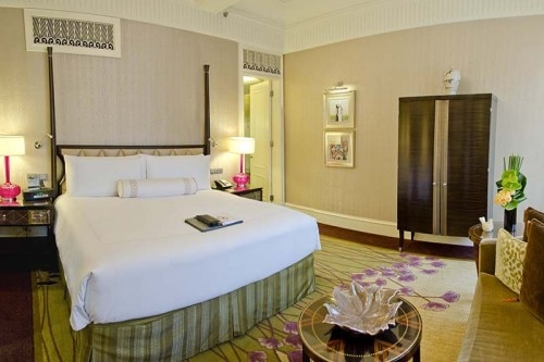 A guest room at the Fairmont Peace Hotel in Shanghai