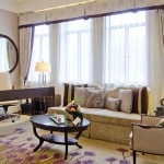 A living room at Fairmont Peace Hotel in Shanghai