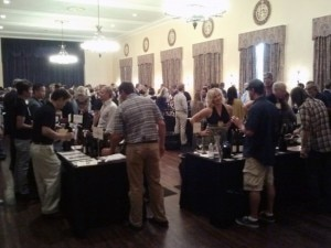 Wine tasting and mingling