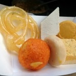 Indian sweets like kesar peda and jalebi