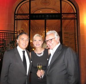 François Delahaye, Hôtel Plaza Athénée general manager, chef Alain Ducasse with Sophie Gayot