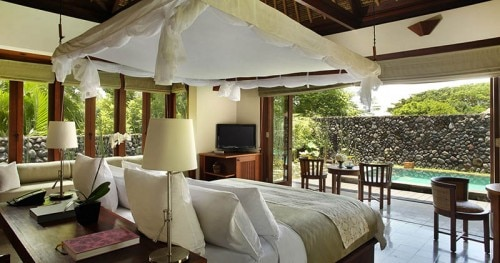 A guest room at Alila Ubud in Bali