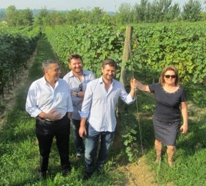 The Dal Biancos in the family vineyard