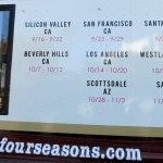 The schedule of the Four Seasons Hotels Food Truck