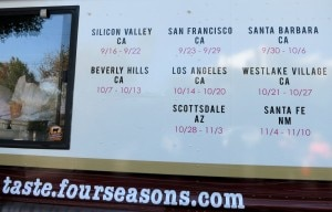 four seasons truck schedule 300x192 The schedule of the Four Seasons Hotels Food Truck
