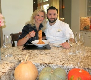 Chef de cuisine Freddy Vargas who prepared the Scarpetta Spaghetti with tomato sauce
